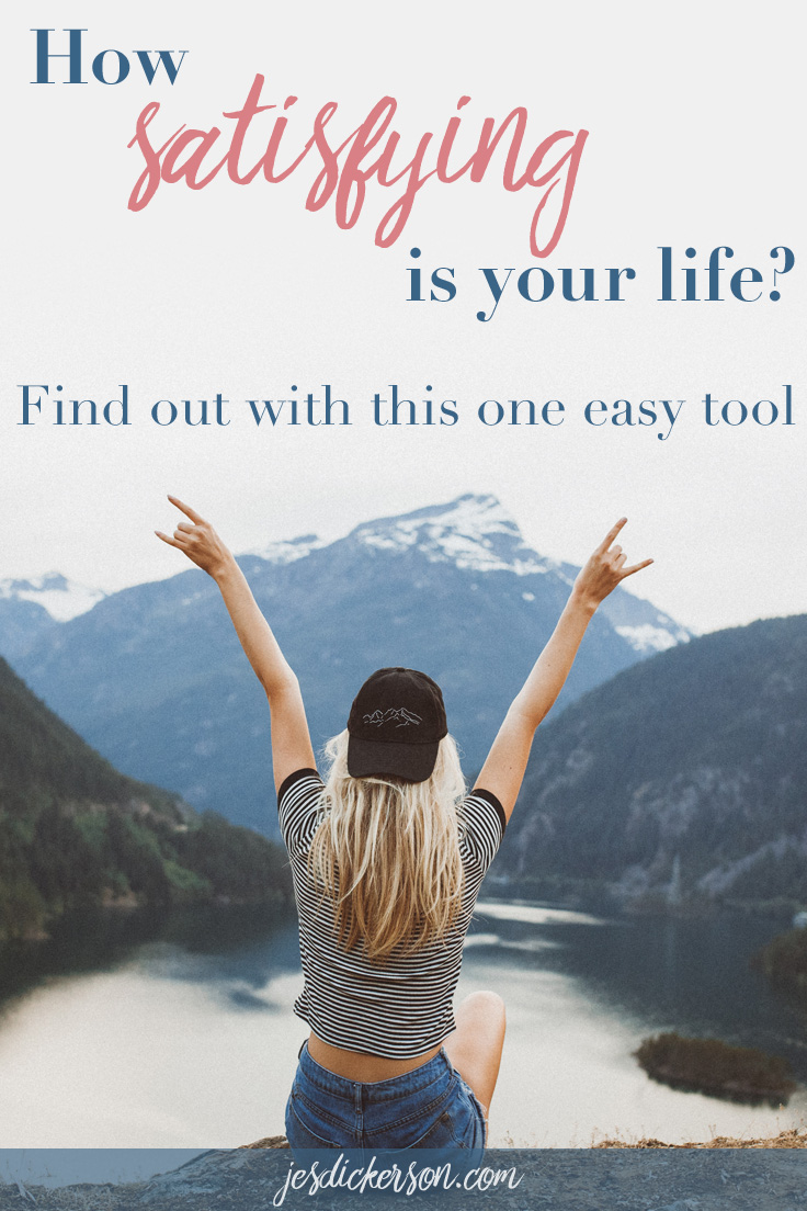 How satisfying is your life?: Find out with this one easy tool