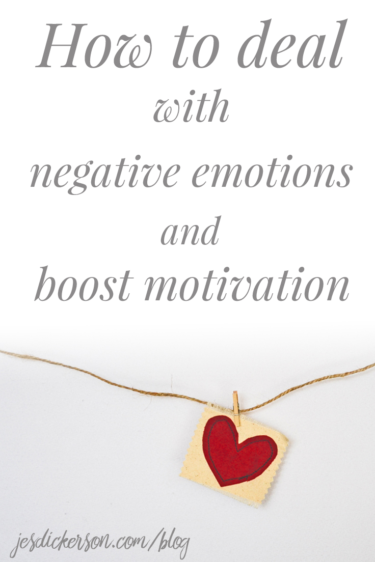 How to deal with negative emotions and boost motivation