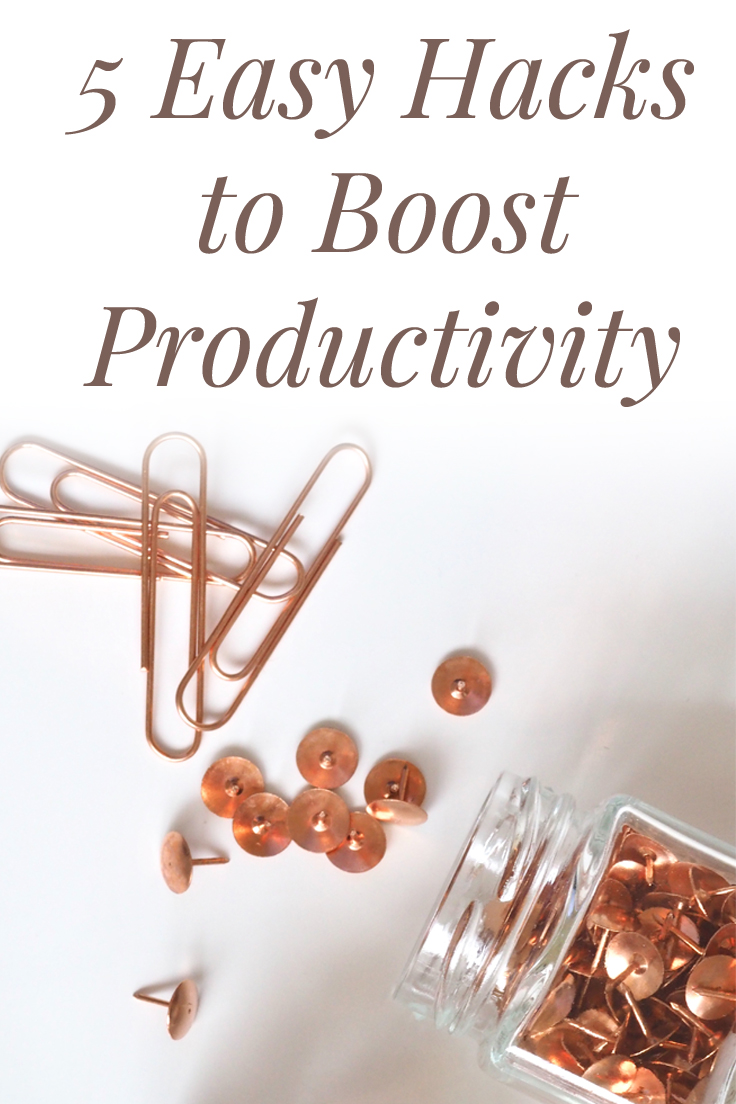 5 ways to boost your productivity.