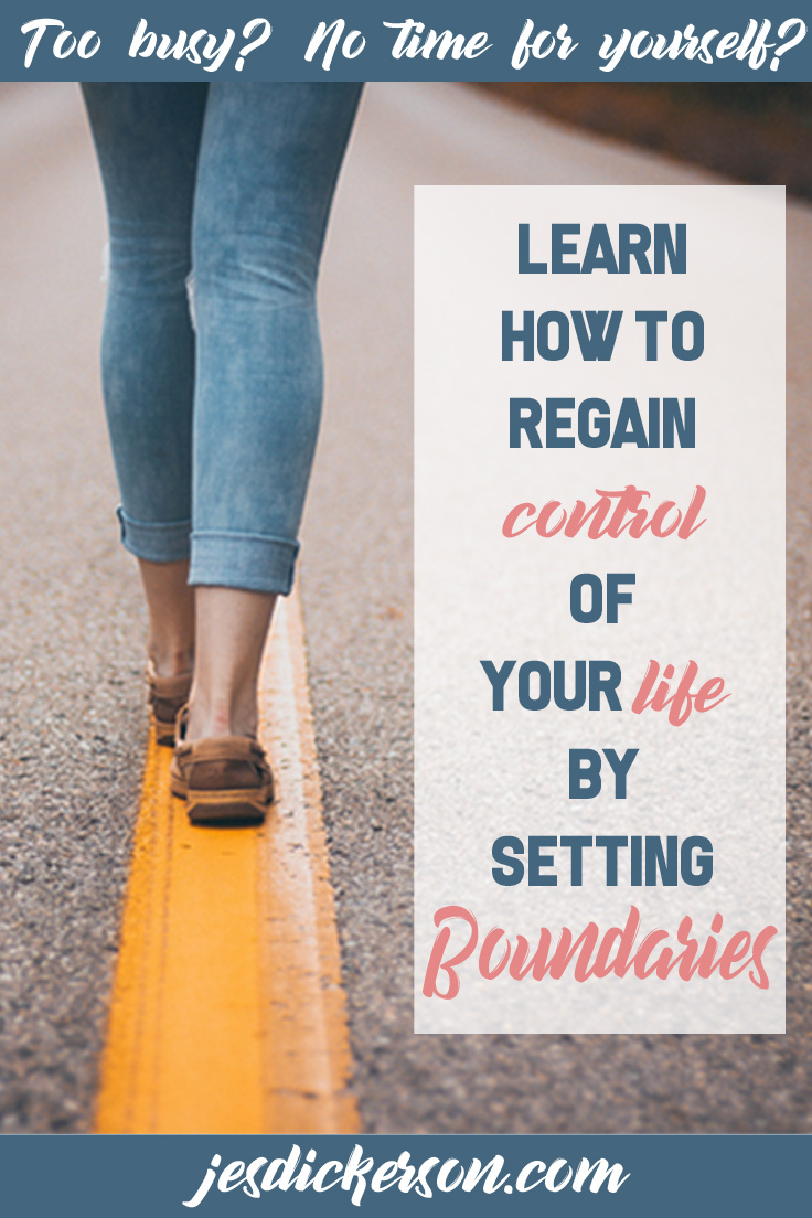 Learn how to regain control of your life by setting boundaries